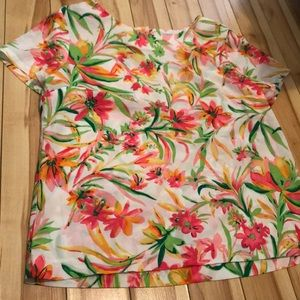 J.Crew tropical print shirt / blouse